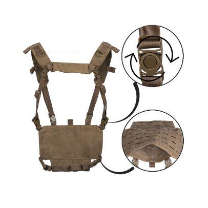 Олекотена тактическа жилетка Miltec Lasercut 204154-00