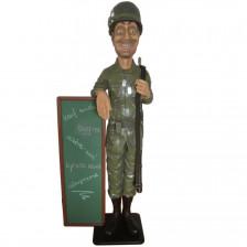 Декоративен войник с дъска за писане 183см