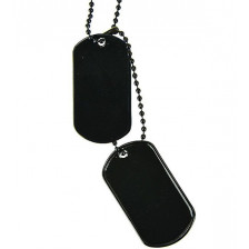 Американски Dog Tags медальони - черни