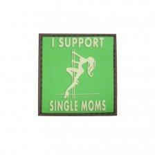 Гумена нашивка I Support Single Moms