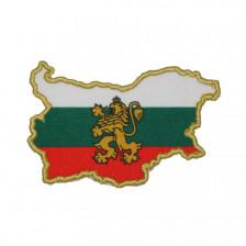 Нашивка карта на България с коронован лъв