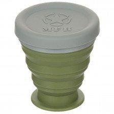Сгъваема силиконова чаша с капак MFH 200 ml