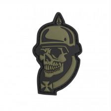Гумена нашивка WWI German Skull
