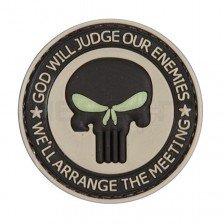 Гумена нашивка God Will Judge