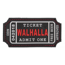 Гумена нашивка Ticket to Walhalla